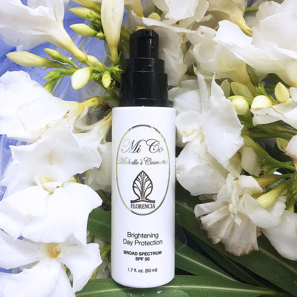 SPF 50 Brightening Day Protection vegan sun screen protectes from UVA and UVB
