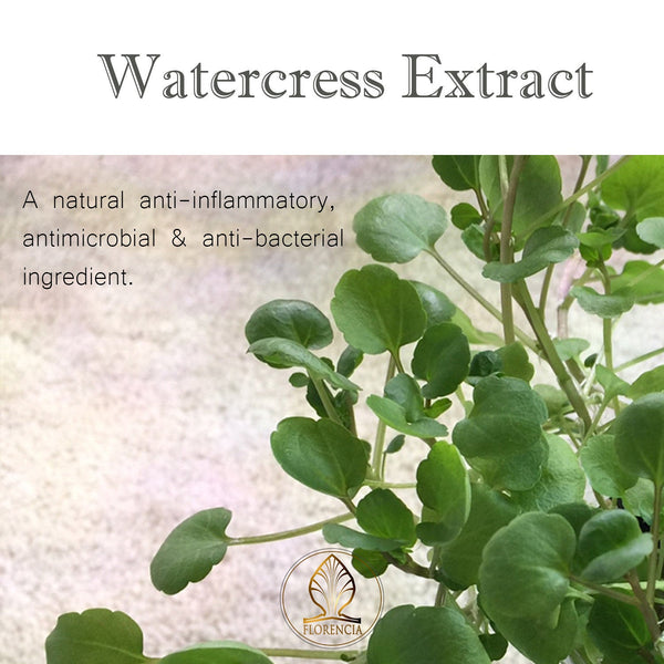 Watercress extract is a natural anti-inflammatory, antimicrobial and anti-bacterial ingredient.