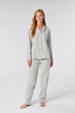 Coyuchi Women's Cloud Brushed Flannel Pajama Set, 2 Colors