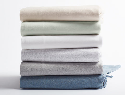 Coyuchi Cloud Brushed Flannel Organic Cotton Sheets, 6 colors - The Green Life Company - 1