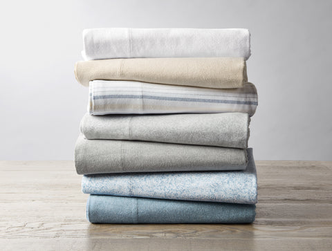 Coyuchi Cloud Brushed Flannel Organic Cotton Sheets, 2 colors