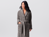 Coyuchi Cotton Unisex Cloud Loom Robe, 3 Colors