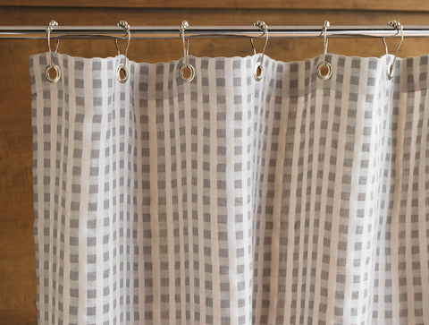 Coyuchi Birch Organic Cotton & Linen Shower Curtain, Natural - The Green Life Company