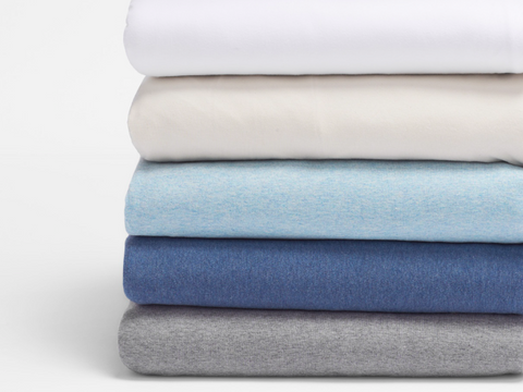 Coyuchi Jersey Organic Cotton Sheet Sets, 5 colors