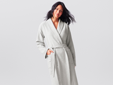 Coyuchi Cotton Unisex Mediterranean Robe, 2 Colors