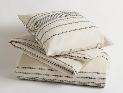 Coyuchi Rippled Stripe Duvet Cover, 2 Colors - The Green Life Company - 1