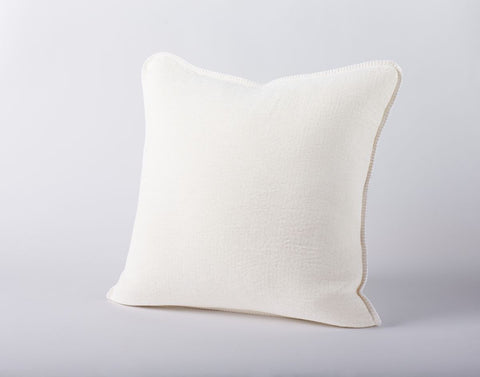 Coyuchi Cozy Cotton Pillow, Alpine White - The Green Life Company - 1