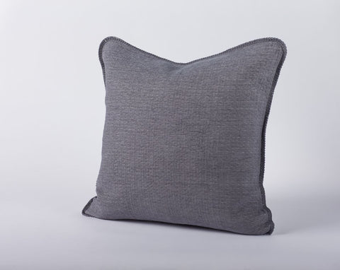 Coyuchi Cozy Cotton Pillow, Charcoal - The Green Life Company - 1