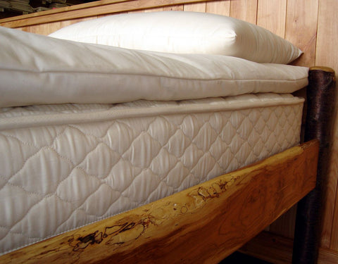 Deep Sleep Quilted Wool Mattress Topper by Holy Lamb Organics - The Green Life Company - 1