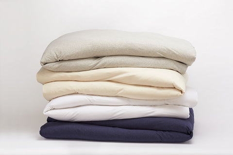 Coyuchi Jersey Organic Cotton Duvet Covers, 4 colors - The Green Life Company - 1
