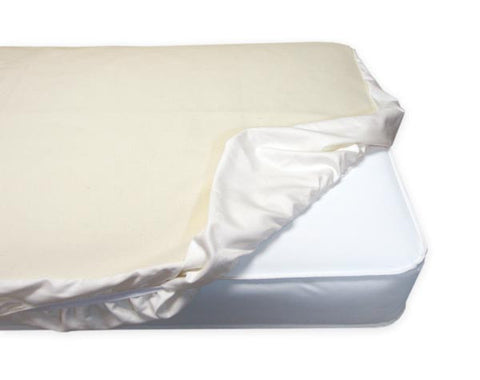 Naturepedic Organic Cotton Waterproof Fitted Crib Protector Pad - The Green Life Company - 1