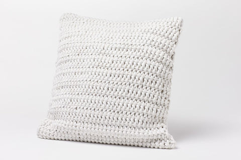 Coyuchi Woven Rope Pillow, Alpine White - The Green Life Company - 1