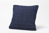 Coyuchi Woven Rope Pillow, Indigo - The Green Life Company - 1