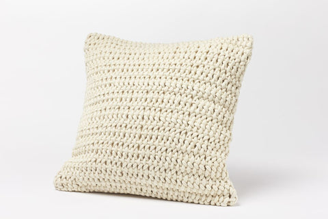 Coyuchi Woven Rope Pillow, Natural - The Green Life Company - 1
