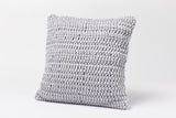 Coyuchi Woven Rope Pillow, Pewter - The Green Life Company - 1