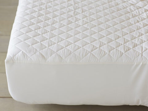 Coyuchi Machine Washable Organic Cotton Fitted Mattress Pad - The Green Life Company
