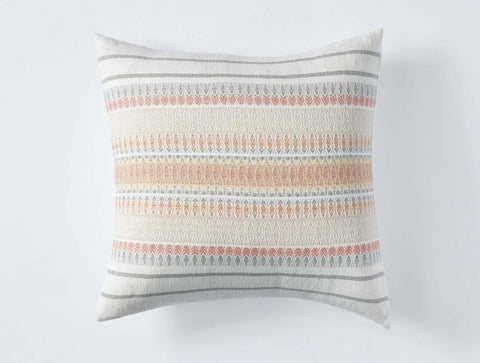 Coyuchi Lost Coast Organic Pillow, Coral