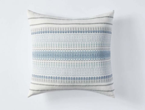 Coyuchi Lost Coast Organic Pillow, Marine