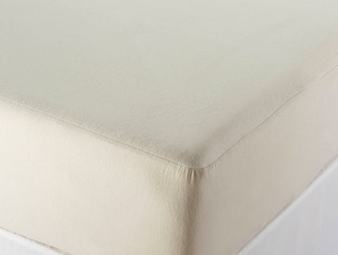 Coyuchi Machine Washable Organic Cotton Fitted Mattress Protector - The Green Life Company