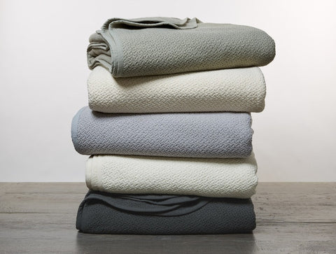 Coyuchi Honeycomb Organic Cotton Blankets, 5 colors