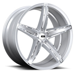 "XO Luxury St.Thomas X250 Wheels 22"" x 9"" Silver Chrome 5x4.5 Bolt Pattern Custom"
