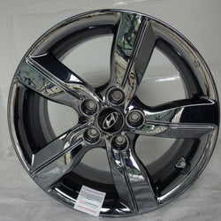 "2012-2014 Hyundai Veloster 17"" Wheel Black Chrome Factory OEM Aluminum Rim 70812"