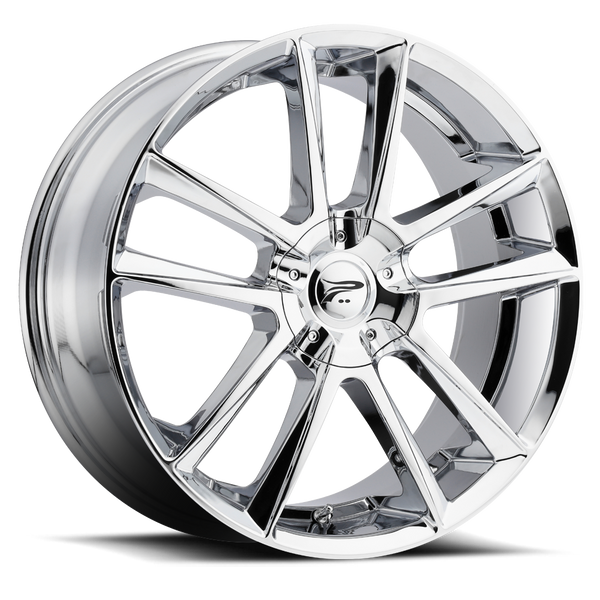 Platinum 436C Gemini 16X7 Chrome Plated Wheels 4X100 / 4X108 Bolt Pattern