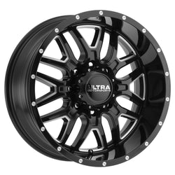 Ultra 203BM Hunter 17X9 Gloss Black with CNC Milled Accents and Clear-Coat Wheels 5X5.00 Bolt Pattern