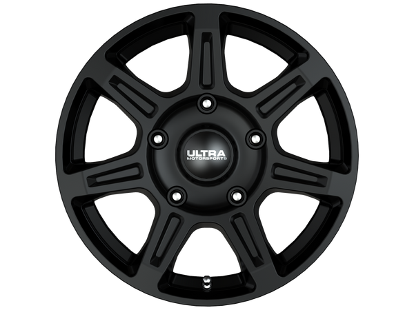 Ultra 450SB Toil Van 16X6.5 Satin Black with Satin Clear-Coat Wheels 5X130 Bolt Pattern