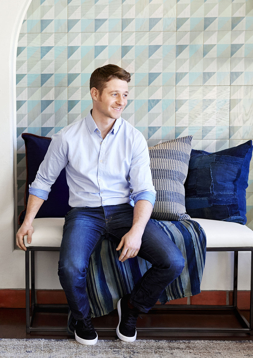Ben McKenzie, a vision in blue.Interior Design by Consort. Photo: Aaron Fallon