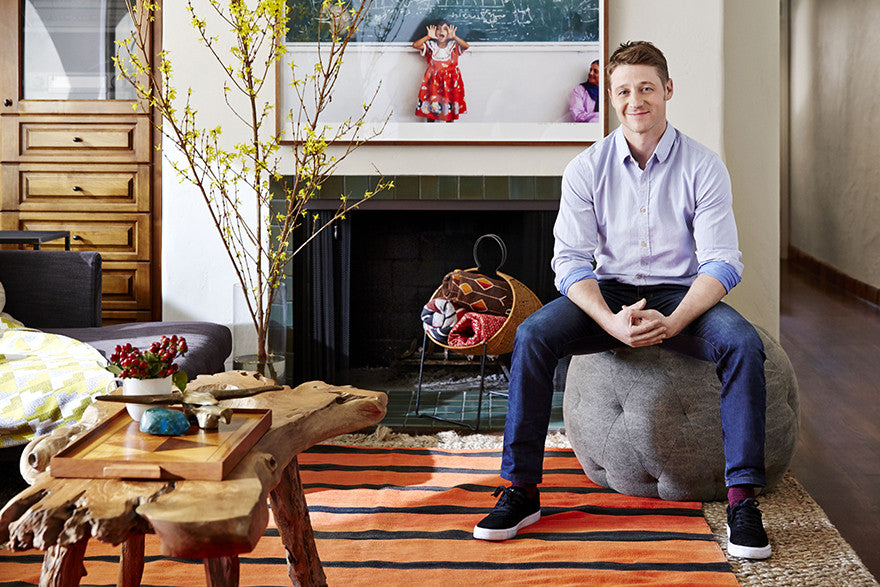 Ben McKenzie's relaxing retreat.Interior Design by Consort. Photo: Aaron Fallon