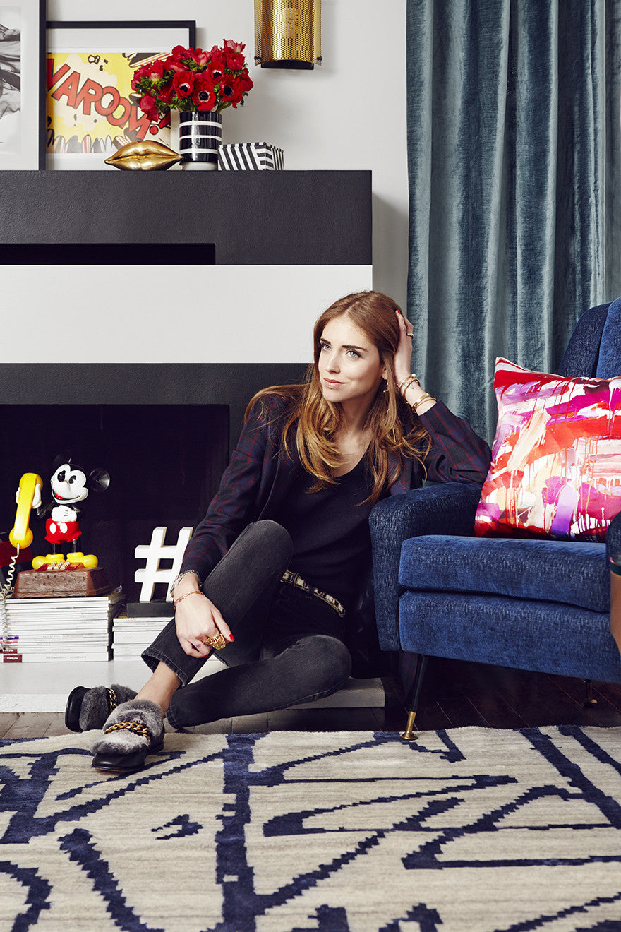 Chiara Ferragni takes Los Angeles.Interior Design by Consort. Photo: Christopher Patey