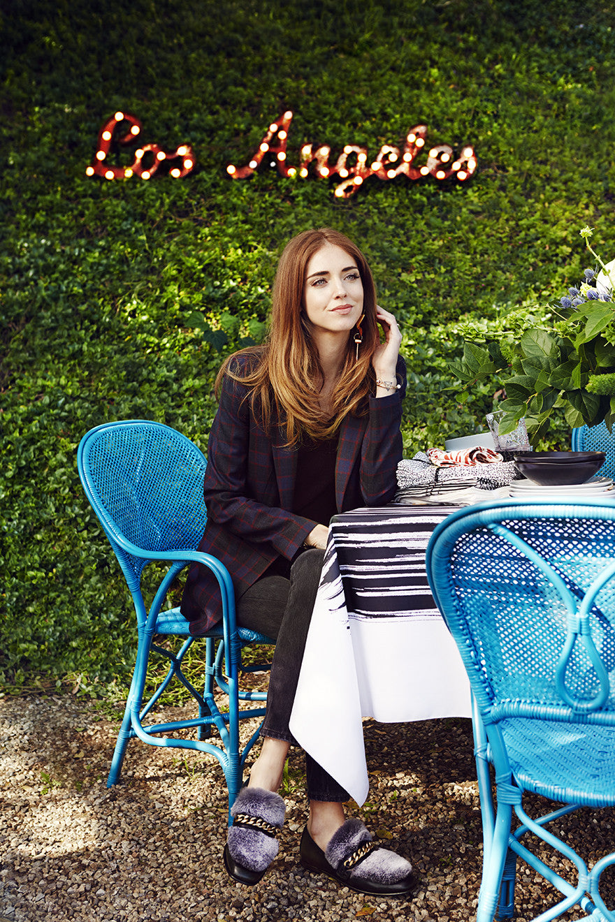 Sitting pretty with the princess, Chiara Ferragni.Interior Design by Consort. Photo: Christopher Patey