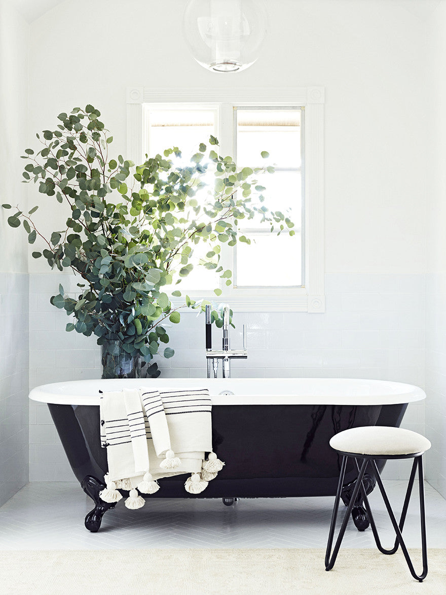 Nothing says sexy like a black clawfoot tub. Interior Design by Consort. Photo: Christopher Patey