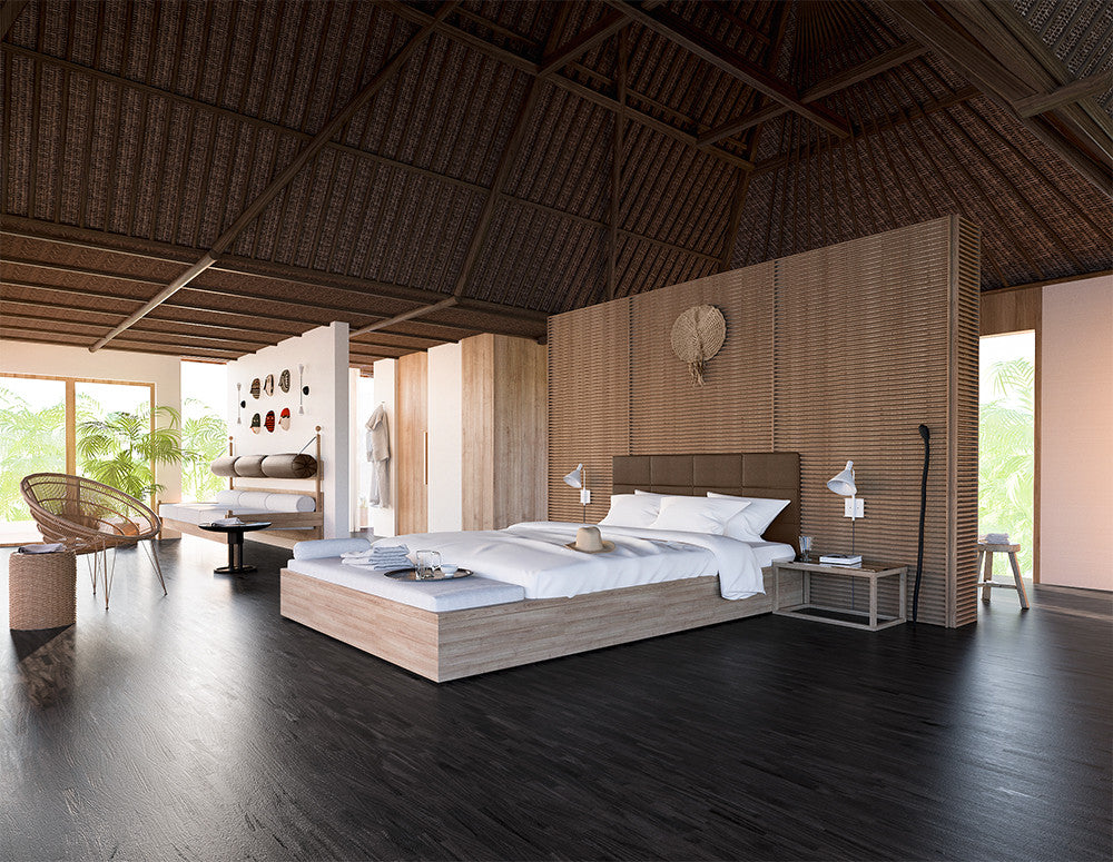 A master bedroom fit for a big kahuna.  Design by Consort. Rendering: Douglas Fenton