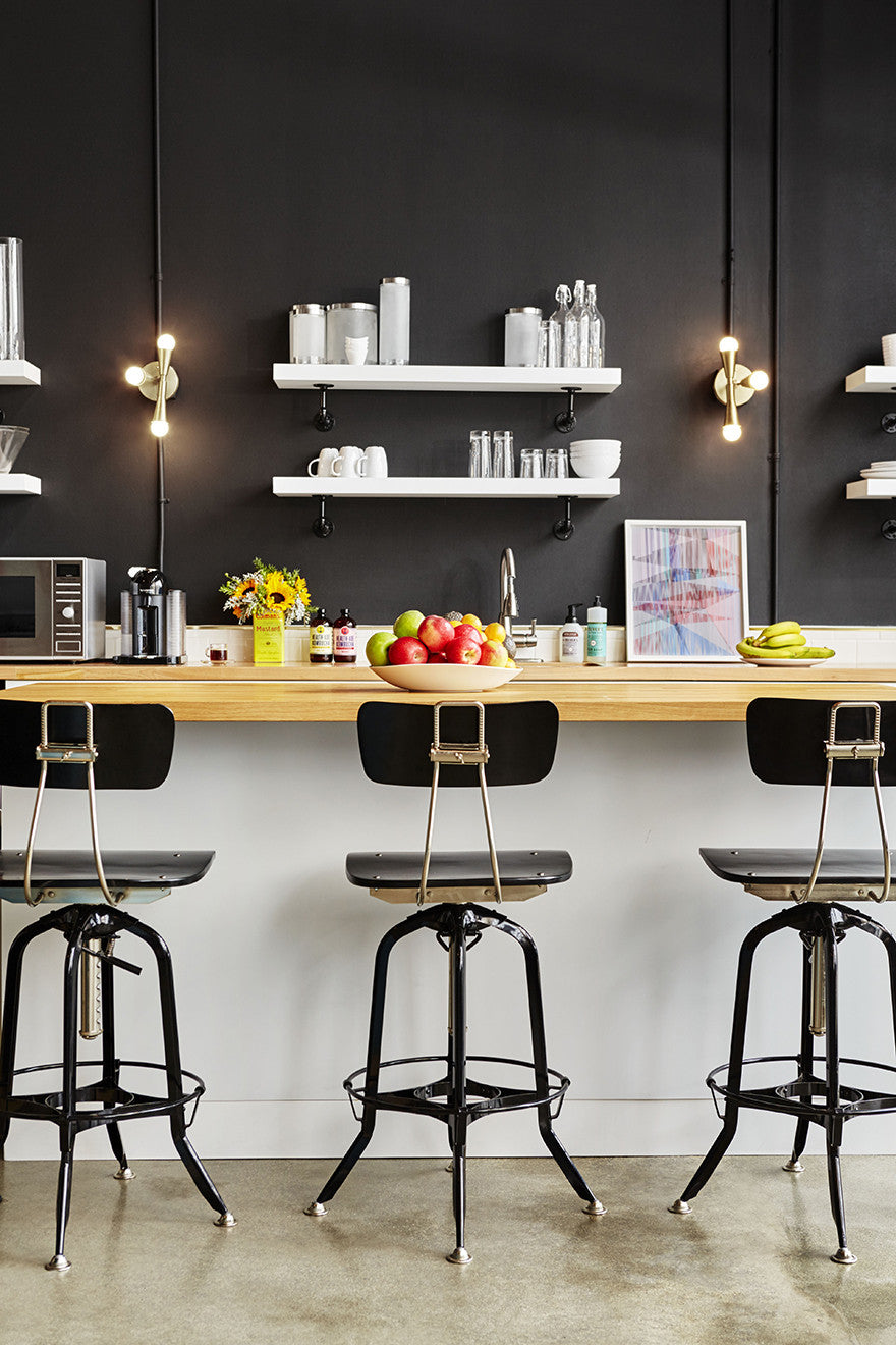 Black is the new white. Interior Design by Consort. Photo: Christopher Patey