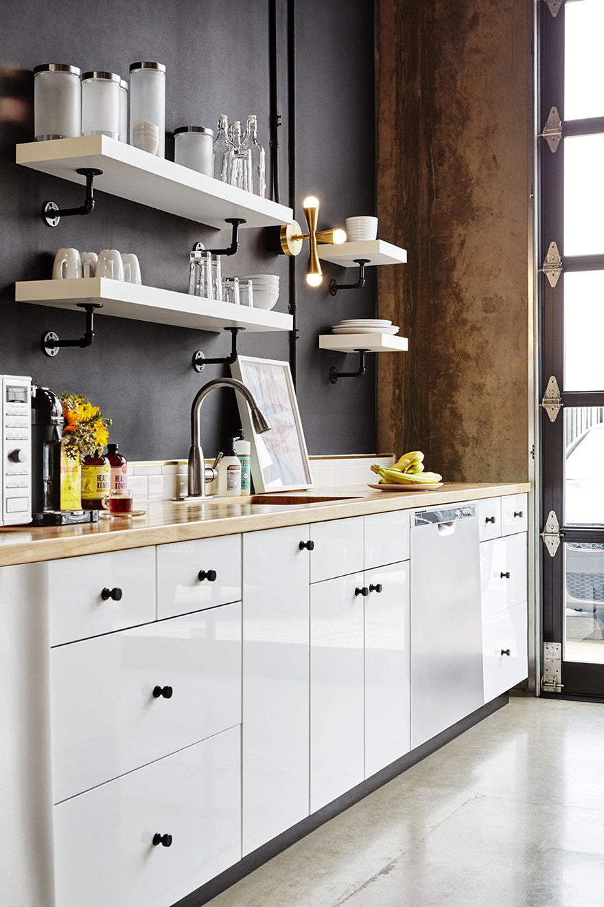 Classic black and white makes for a tasty kitchen.Interior Design by Consort. Photo: Christopher Patey