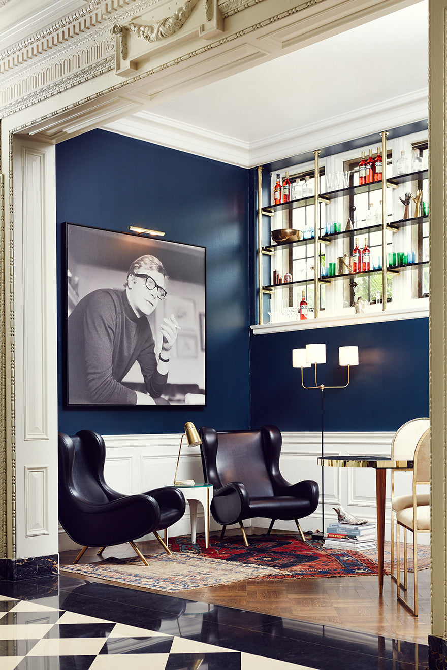 Michael Caine speaks easy in this social saloon.Interior Design by Consort. Photo: Christopher Patey