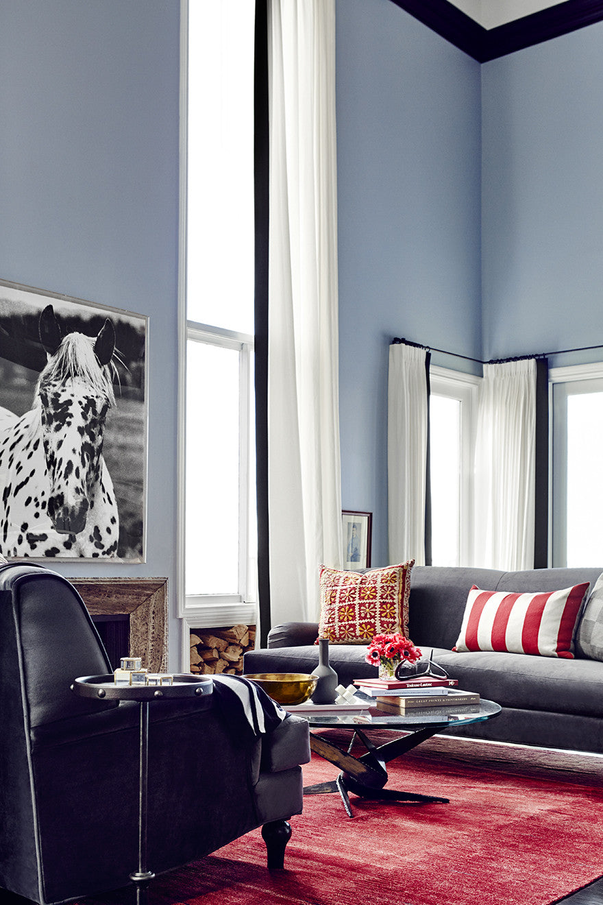 Red, white, and blue.Interior Design by Consort. Photo: Christopher Patey