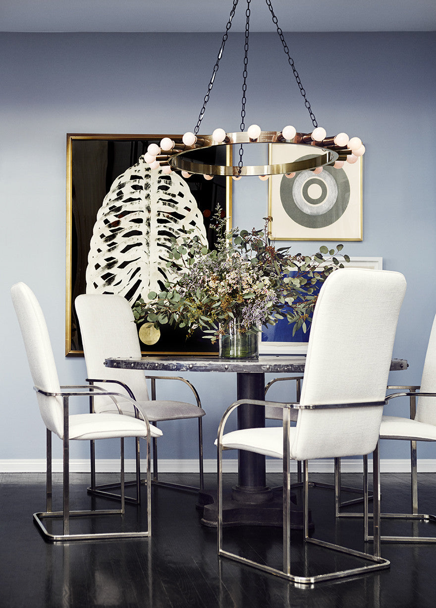 A dreamy eclectic dining room.Interior Design by Consort. Photo: Christopher Patey