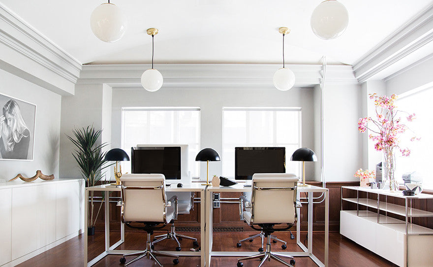 Penthouse office vibes. Interior Design by Consort. Photo: Tessa Neustadt
