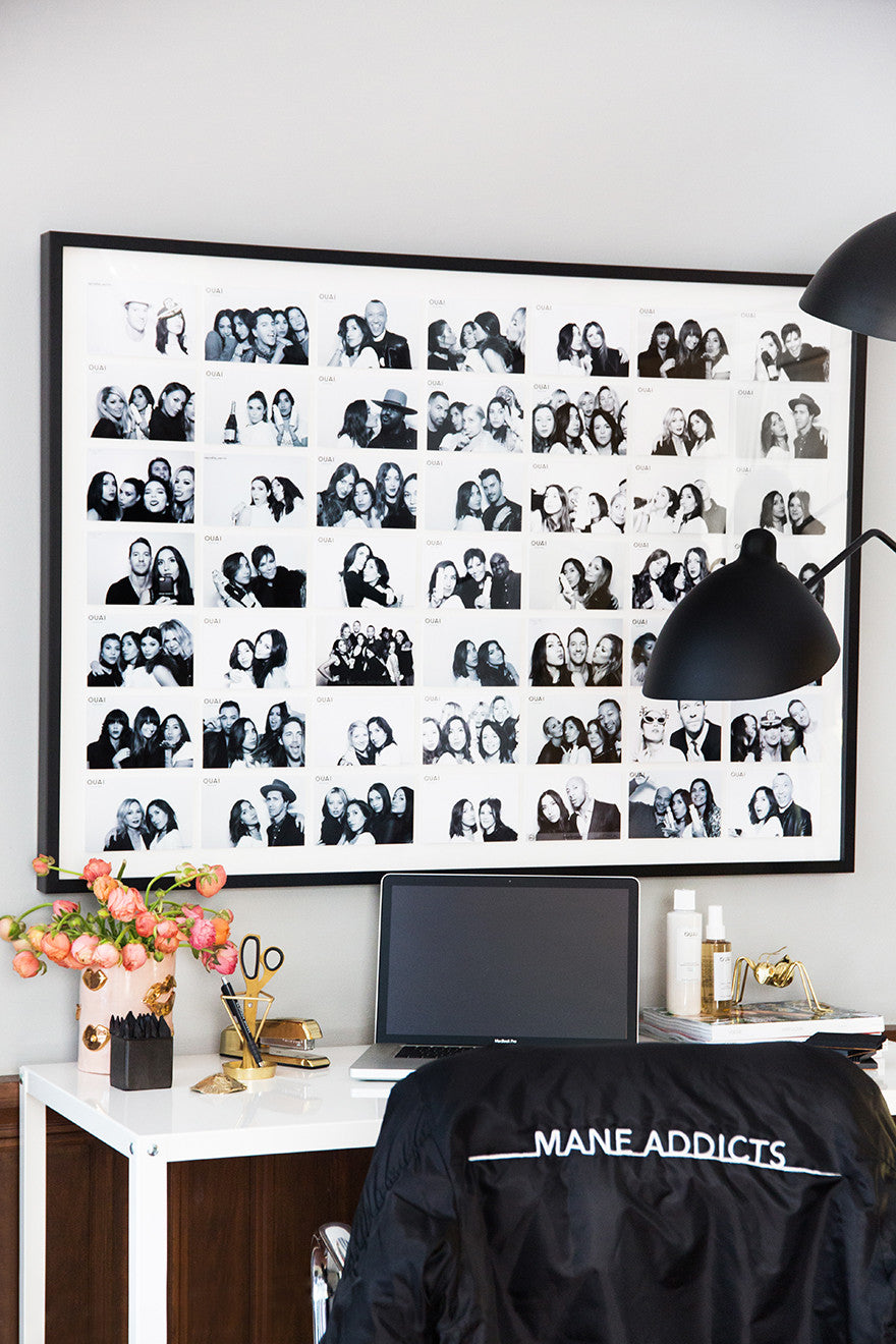Photo booth art. Interior Design by Consort. Photo: Tessa Neustadt