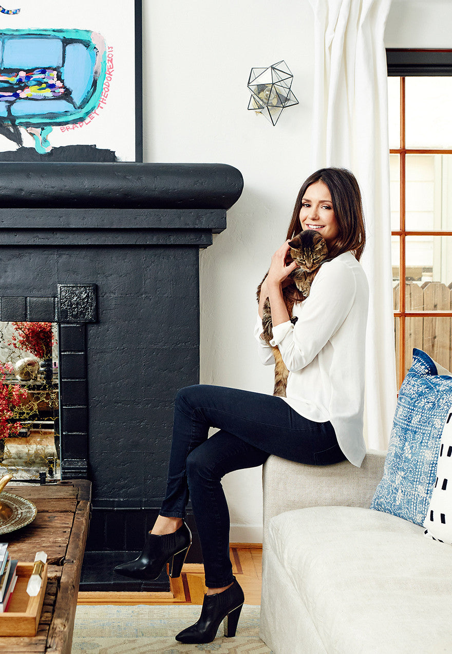 Nina Dobrev keeps it boho in her bungalow.Interior Design by Consort. Photo: Christopher Patey