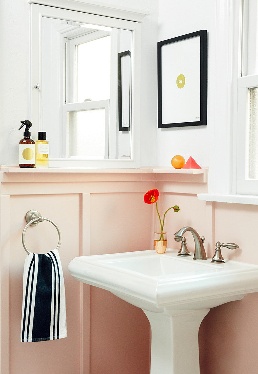 Made you blush (bathroom).Interior Design by Consort. Photo: Christopher Patey