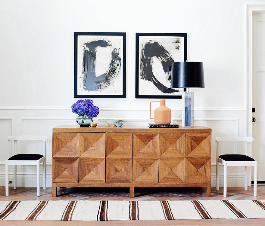 A credenza done right.Interior Design by Consort. Photo: Mat Sanders
