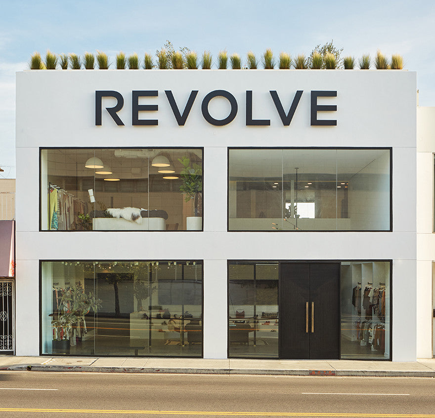 Revolve Social Club Store Front.Interior Design by Consort. Photo: Sam Frost