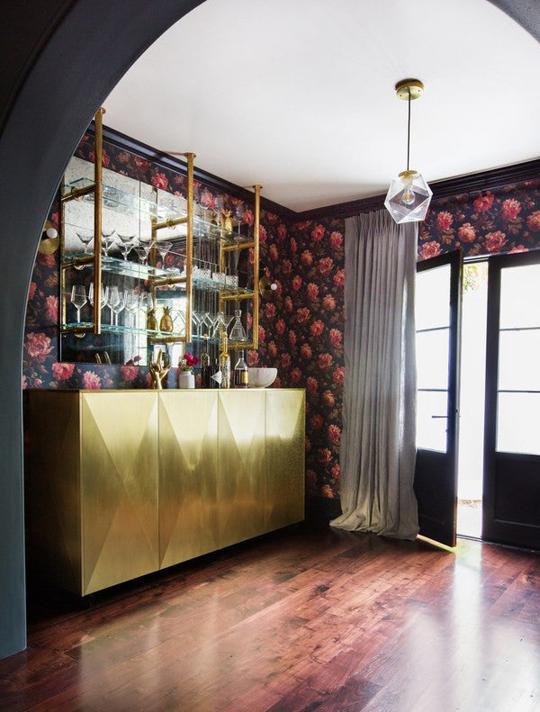 Belly up to the brassy bar. Interior Design by Consort. Photo by Tessa Neustadt