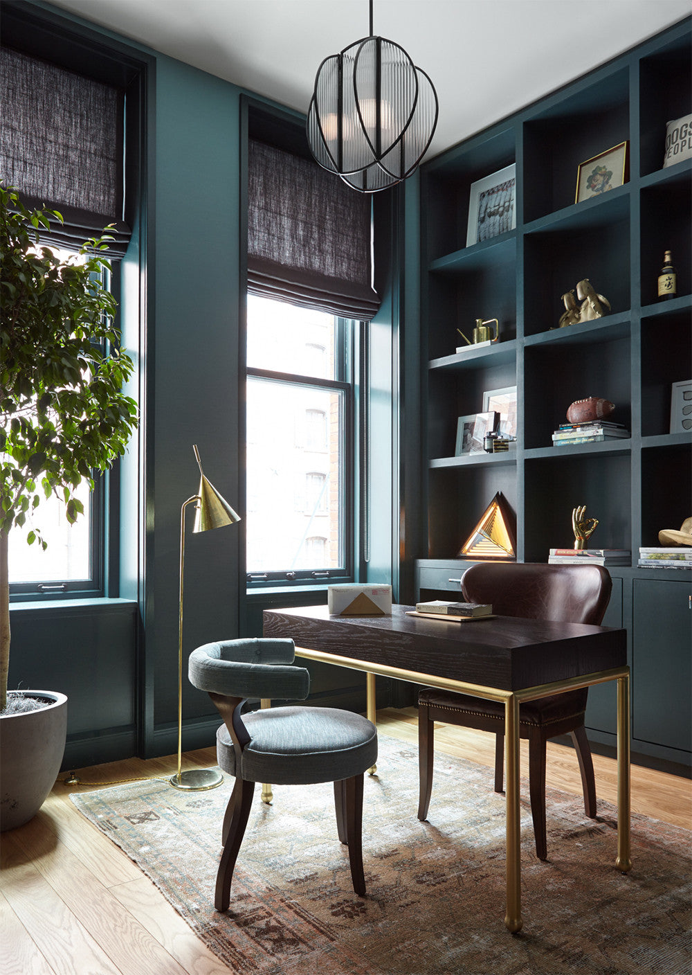 A stately study. Interior Design by Consort. Photo: Reid Rolls