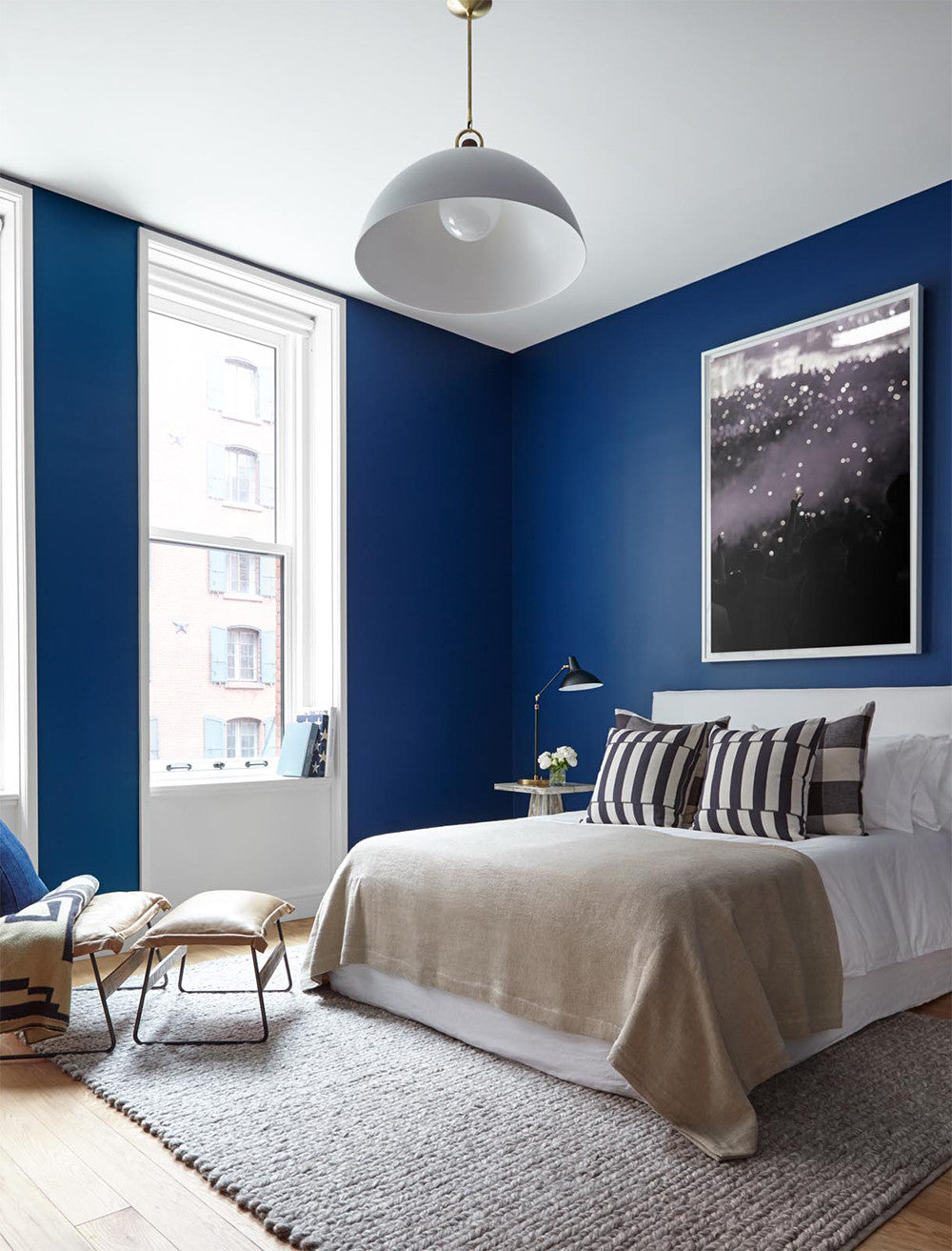 A bluetiful night's sleep.     Interior Design by Consort. Photo: Reid Rolls