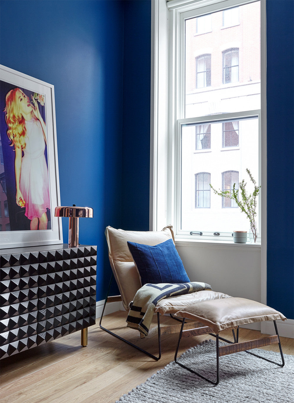 Peek-a-blue     Interior Design by Consort. Photo: Reid Rolls
